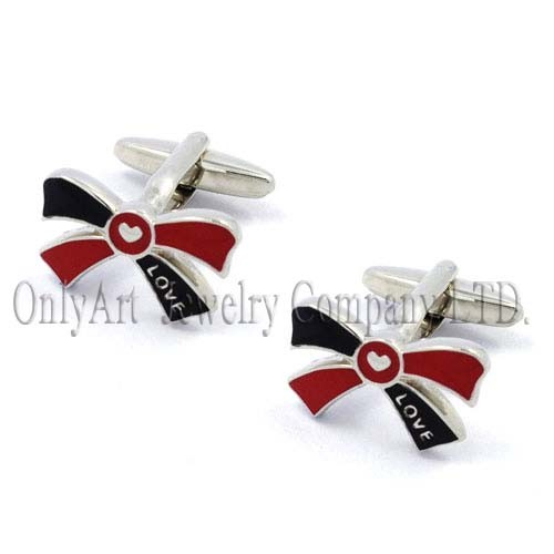 Ladies Cufflinks custom cuff links bowknot cuff links