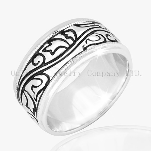 925 Sterling  Silver Engraving Ring
