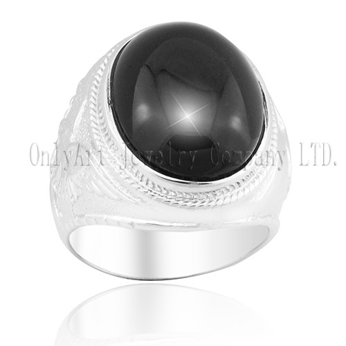 New Black Onyx Women 925 Silver Ring